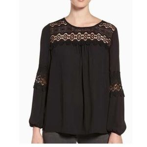 FIRM Nordstrom Pleione lace blouse